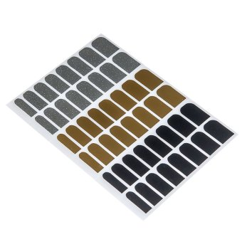 Supercart Foil Armour Nail Art Stickers Nail Patch Manicure ( Gold )- Intl