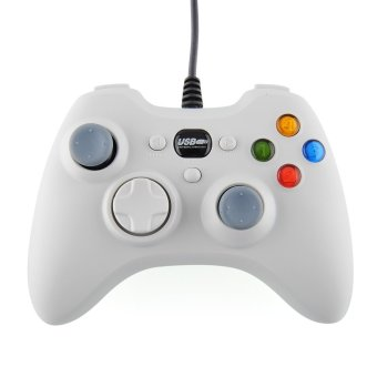 Aukey USB Wired Game Controller For PC White