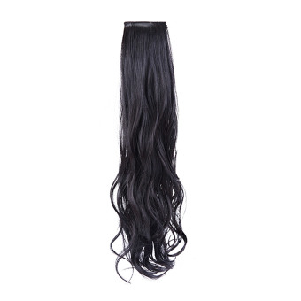 Long Curly Hair Extension Ponytail Hair for Ladies Hairpiece Wigs Natural black - Intl