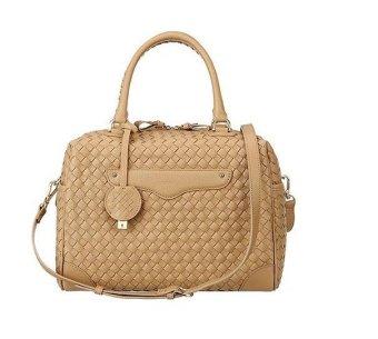 Brera Glamour Mesh Hand Bag - Cokelat