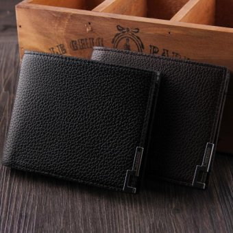 2016New Arrival Fashion Man Wallet High Quality Thin Leather Portable Solid Brand Purse - INTL