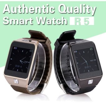 R5 HD IPS Screen Bluetooth Smart Watch for Android and iOS Phone Black