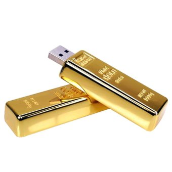 USB Gold Bar 2.0 Flash Drive - 16GB - Gold