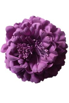 Clothing Accessories Acrylic Material Big Peony Flower Baby Hair Band Drop Shipping YBB-0206 Purple