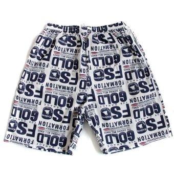 Men Casual Printing Shorts Swimming Shorts Beach Surf Shorts - INTL