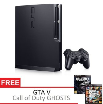 Sony PS3 Playstation 3 Slim 120GB Black + Gratis 2 DVD Game