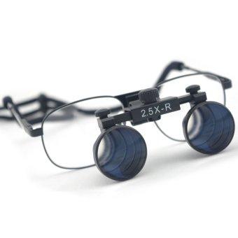 2.5x Magnification Spark Professional Dental Loupes with Black Metal Frame - Adjustable Pupil Distance Model #CM250M (Intl)