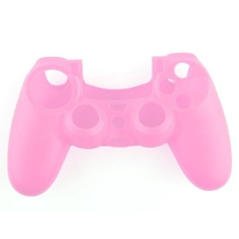 Generic Soft Silicone Gel Protective Skin for PS4 Controller - Pink - Intl