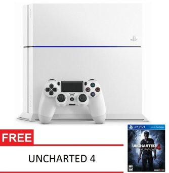 SONY Playstation 4 500GB CUH-1200A B02 - Putih + Uncharted 4 A Thief's End