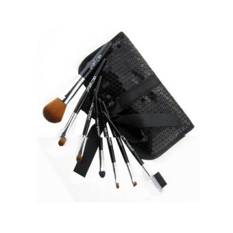 MULBA 7piece Set Make Up Tools Professional Superior Soft Cosmetic Makeup Brush Set Pouch Bag Case(Black) - INTL