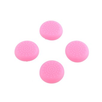Aukey Rubber Thumbstick Grips for PlayStation 4 Gamepad (Pink)