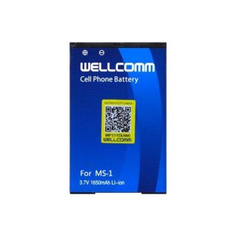 Wellcomm Baterai Blackberry MS-1 For Bold Onyx 9000/9700 Double IC 1650 mAh - Biru terpercaya