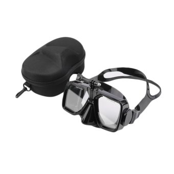 GOOD Camera Mount Swimming Scuba Mask Diving Tempered Glass Goggles With Case - Intl