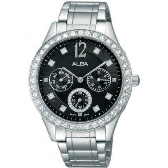 ... jam tangan ALBA Jam Tangan Wanita AP6275X1 Silver Hitam Stainless Steel terpercaya