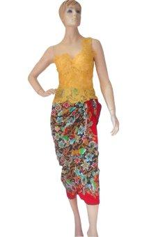 harga Solo My Kebaya Set Kebaya Pesta - SKP04 - Gold Lazada.co.id
