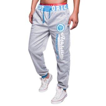 EOZY FASHION Men Sport Sweat Pants Korean Style Male Casual Pants Stylish Training Running Jogging Trousers Slacks (Light Grey) (Intl)