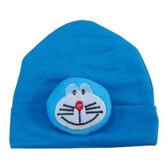harga Wonderland Okiyo Topi Boneka Doraemon -Topi Bayi - Biru Lazada.co.id
