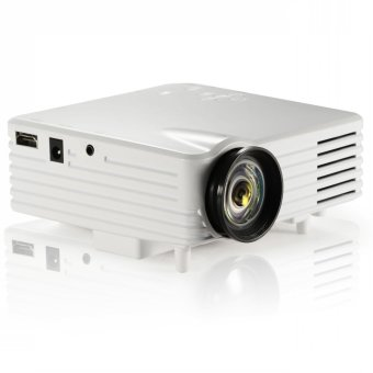 Portable LED Video TV Beamer Projector for Home Theater Cinema Multimedia Player with HDMI /AV/VGA/SD/USB White EU Plug