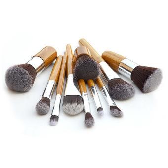 11Pcs Professional Makeup Brush Cosmetic Brushes Tools Kit Foundation Set (Intl)