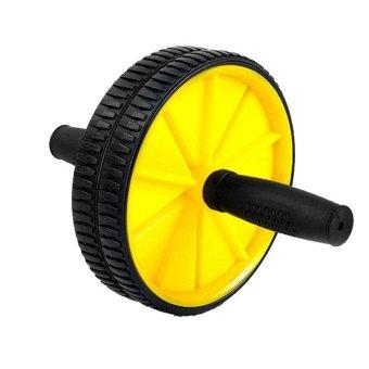 Dual Wheel Fitness AB Rocket Strength Training Equipment (Yellow) (Intl)