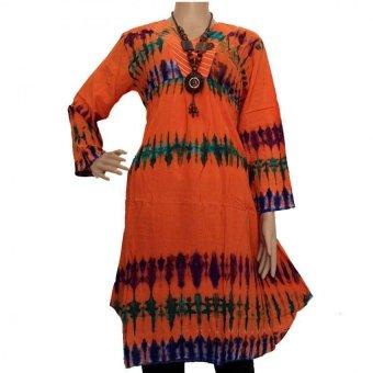 Grosir Yogya Blus Batik Pelangi Jumputan - BL1038-Orange