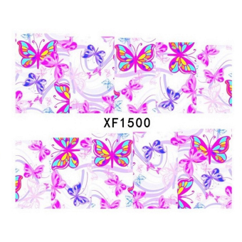 New Pro Water Transfer Butterfly Stickers Nail Art Manicure Tips DIY Decoration (Intl)