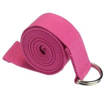 Yoga Strap D-Ring Training Belt Rose Red - Intl