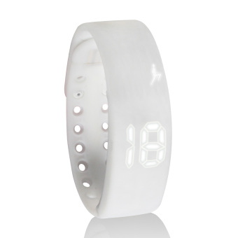 W2 USB Multifunctional 3D Pedometer Intelligent Bracelet (White) (Intl)