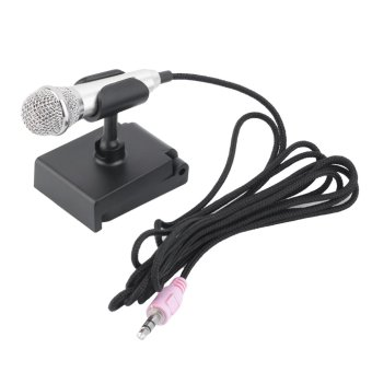 Allwin Mini 3.5mm Wired Microphone for Mobile Phone Tablet PC Laptop Speech Sing Silver (Intl)