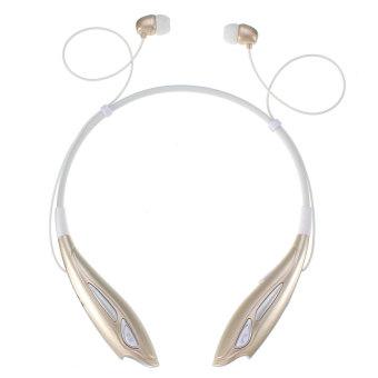 Audew Bluetooth Wireless Headset Stereo Headphone Earphone Sport Golden(INTL)