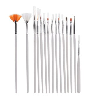 Buytra Details about Hot 15pc Nail Art UV Gel Design Brush Set Painting Pen Manicure Tips Tools- Intl