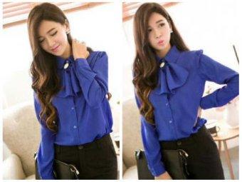 Kyoko Fashion Kemeja Princes-(Blue)
