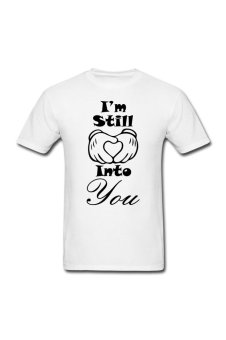 Men's Into you Customize T-Shirt for white - Intl
