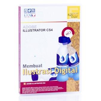 Tokoedukasi CD Tutorial Kreasi Digital Adobe Illustrator Vol. 1 by Simply Interactive