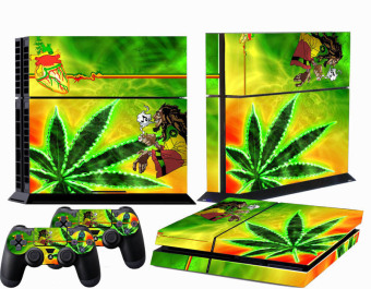 Yellow Leaf Custom Sticker for PS4 PlayStation 4 Console Controller Skin (Intl)