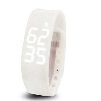 W2 Smart Wristband Watch Bracelet Wearable Devices Pedometer (White) (Intl)