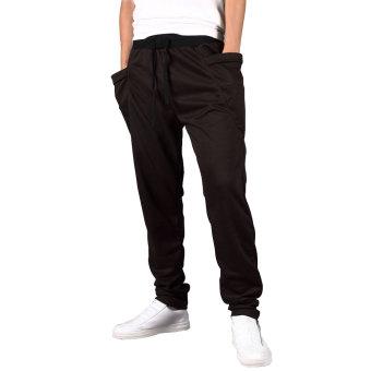Harem Low Crotch Hip-hop Pants for Men Boys (Black)- Intl