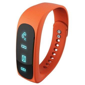 Wofalo E02 Bluetooth 4.0 Smart Sports Bracelet (Orange) - Intl