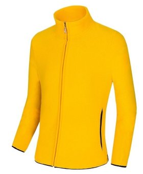 Cyber Fashion couple's Casual Long Sleeve Hooded pullover Pure Color(YELLOW) - Intl
