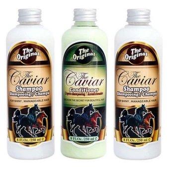 Shampoo Caviar - Paket 2 Shampo Dan 1 Kondisioner Caviar