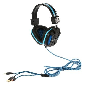 Professional Gaming Headphone with Microphone 3.5mm Over Ear Stereo Gaming Headset with LED Light Noise Cancellation & Wonderful Sound Effect Music Earphones with Adjustable Headband for Desktop Notebook Laptop (Intl)