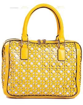 harga PurCattle Women's Fashion Hollow out Pattern Cross body Bag (Yellow) (Intl) Lazada.co.id