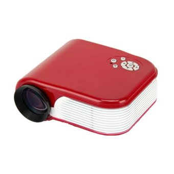 Mini Projector for Video Games TV Movie Red (Intl)