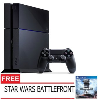 Sony Playstation 4 500GB - Jet Black + Gratis Star Wars Battlefront