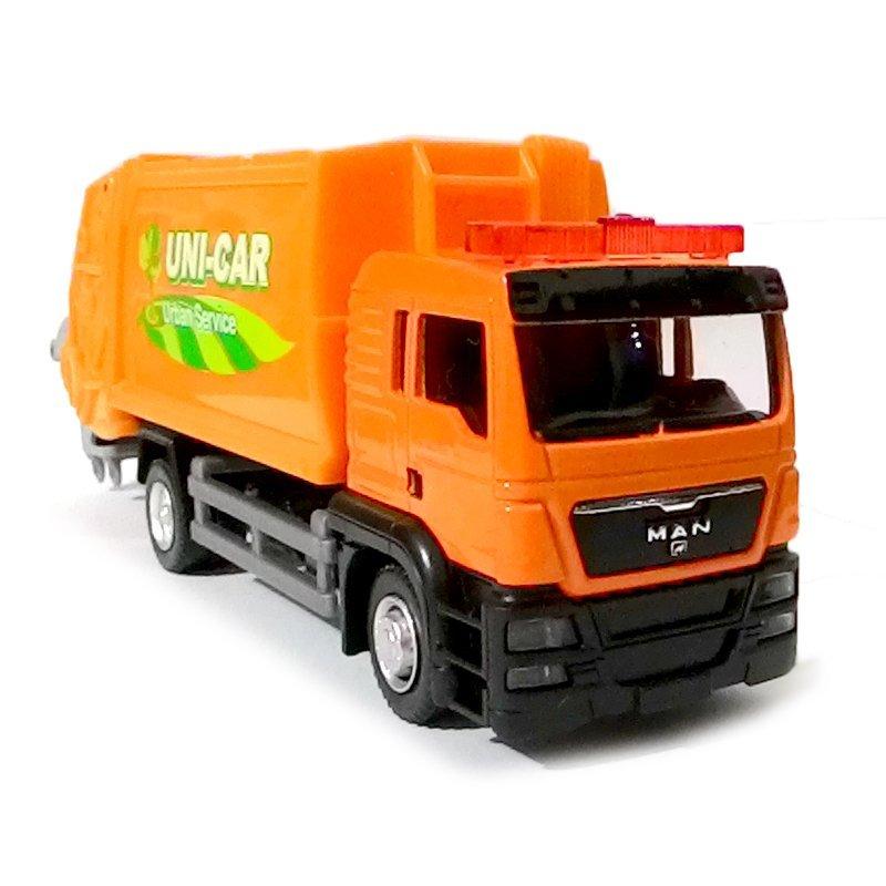 harga Unicar Diecast Miniatur Pajangan Mobil Truk Sampah - GarbageTruck - Orange Lazada.co.id