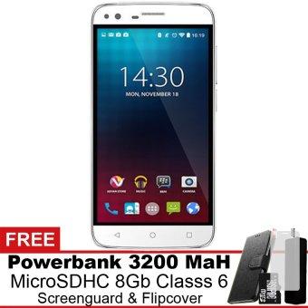 Advan i4A 4G LTE - 8 GB - Putih Gratis Powerbank + Micro SDHC 8Gb + Screenguard + Flipcover