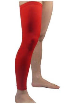 Professional Sport Protection High Resilience Basketball Leg Guard Protector M (Red) - Intl