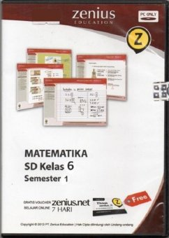 Zenius Set CD SD Matematika Kelas 6 Semester 1