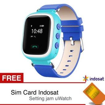 uWatch TINZ - GPS Tracker Smartwatch - Biru + Gratis Sim Card Indosat dan Setting