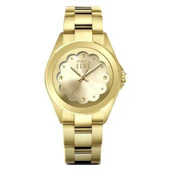 jam tangan Elle - Jam Tangan Wanita - Emas - Strap Stainless Steel - EL ES20024B03X